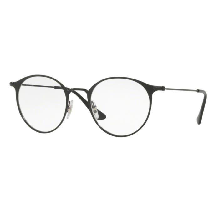 lunette de vue ray ban noir et or