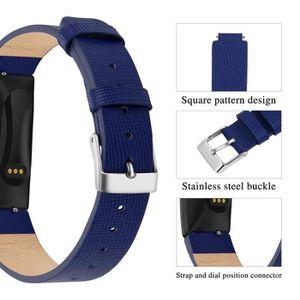 BRACELET MONTRE CONNEC. Montre en cuir bandes de remplacement Wristband sa