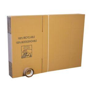 CAISSE DEMENAGEMENT Lot de 10 cartons de déménagement + adhésif