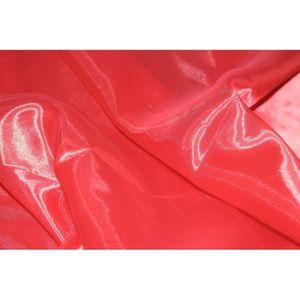 TISSU Tissu Organza Rouge -Au Mètre