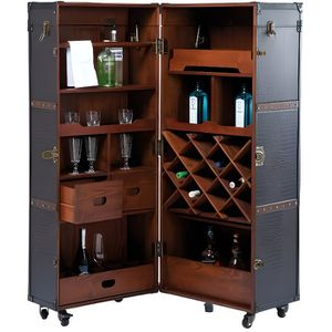 MEUBLE BAR Bar Shipping Trunk Colonial Kare Design