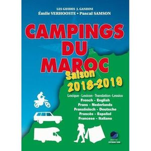 GUIDES MONDE Livre - campings du Maroc ;  saison 2018/2019