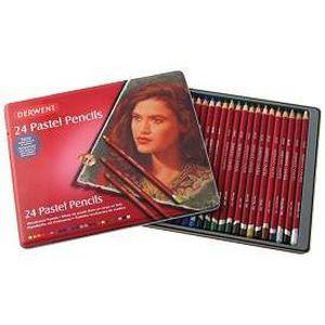PASTELS - CRAIE D'ART Derwent Boite metal 24 crayons pastels