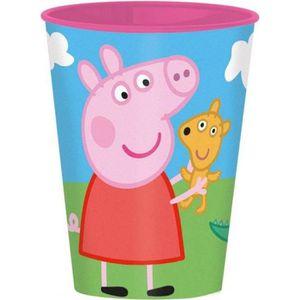 Verre à eau - Soda Gobelet Peppa Pig, verre plastique enfant