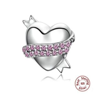 MAILLON DE BRACELET MERRILL® Charms Argent 925 Essence Rose Diamants C