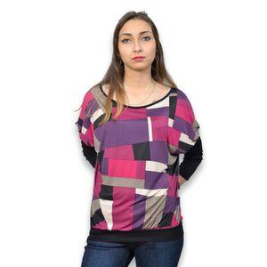 T-SHIRT Tee shirt femme manche longue Imprimé taille 4