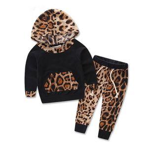 SURVÊTEMENT Bébé enfants Set Leopard manches longues Imprimer