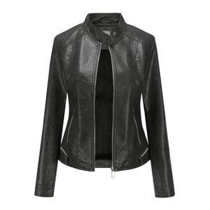 BLOUSON - VESTE Veste moto cuir femme Pardessus Outwear