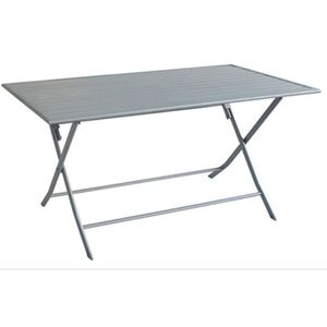 Petite Table Pliante de Camping Table de Jardin Pliable en Aluminium et Bambou R/ésistante aux Intemp/éries et Inoxydable