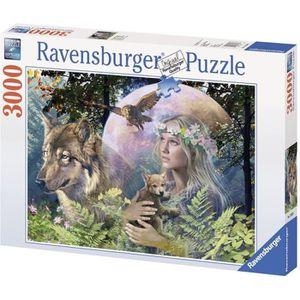 PUZZLE Puzzle 3000 pcs Loup Clair De Lune