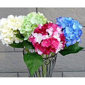 FLEUR ARTIFICIELLE 3pcs 54cm Hortensia Siphon Bouquet de fleurs art