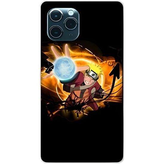 Coque compatible iphone 11 (6,1) Manga Naruto noir taille unique ...