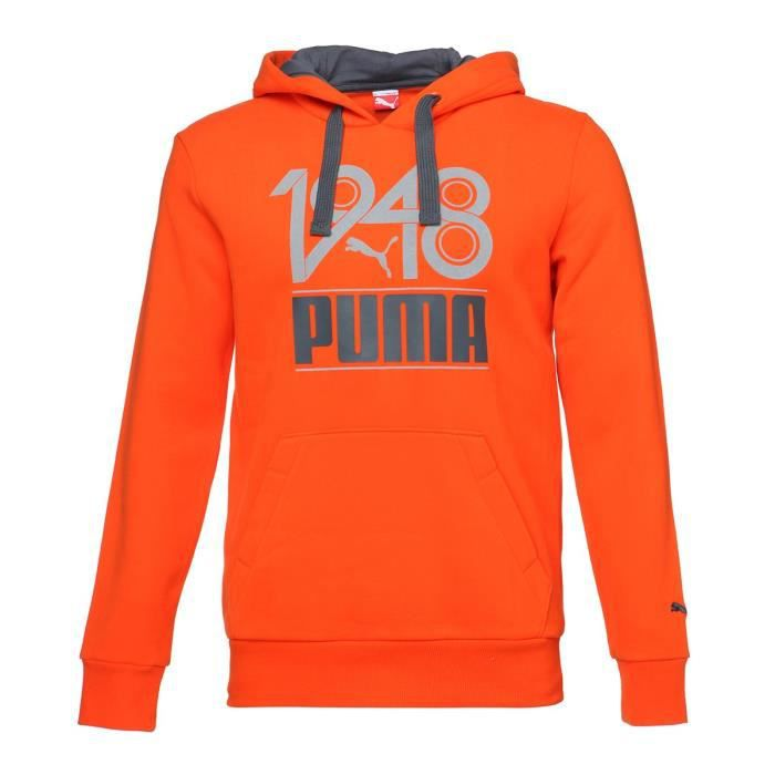 PUMA Fun S Casual Sweat à capuche Homme - Orange