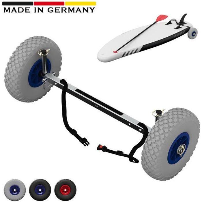 Roues de transport pour SUP Stand Up Paddle Board Chariot Wheels, SUPROD UP260, Acier inoxydable, gris-bleu