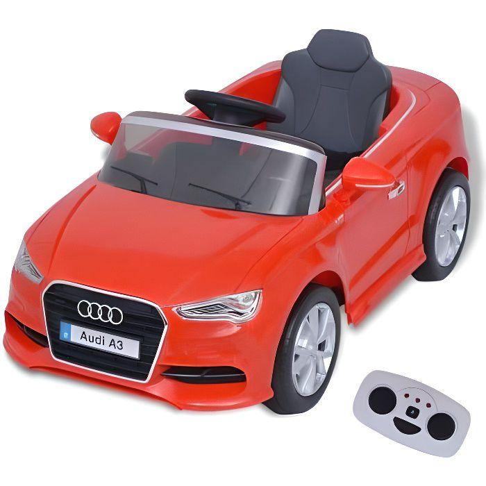 Voiture Électrique pour Enfants - Audi A3 Télécommandée - 3-7 Ans - 2,8 Km-h - Rouge