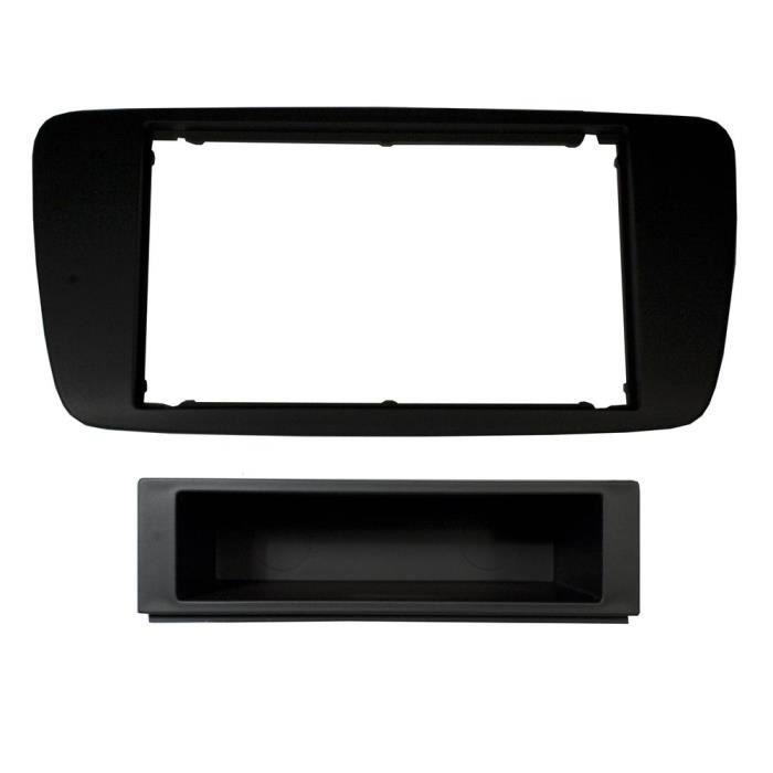 Adaptateur de façade d'autoradio simple DIN Noir Seat Ibiza 2008 >