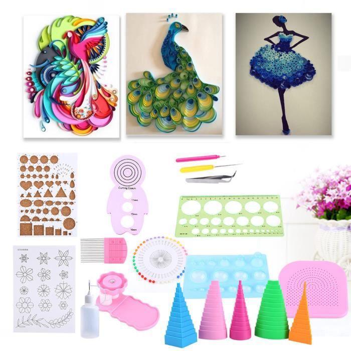 kit de travail de couture 1 Set Pince À Épiler Aiguille À Quille Fendue Stylo Outil Kit Quilling Papier DIY Ensemble pour Sa HB069