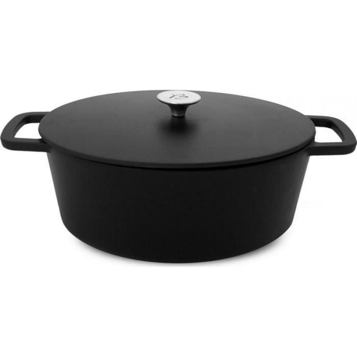 Baumalu Mijoteur - Cocotte Cocotte 34cm et couvercle 7.2L noir black