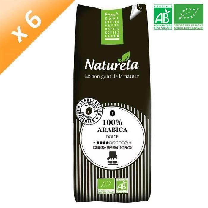 [LOT DE 10] Naturela -250g- Café 100% Arabica Expresso n° 1 Bio