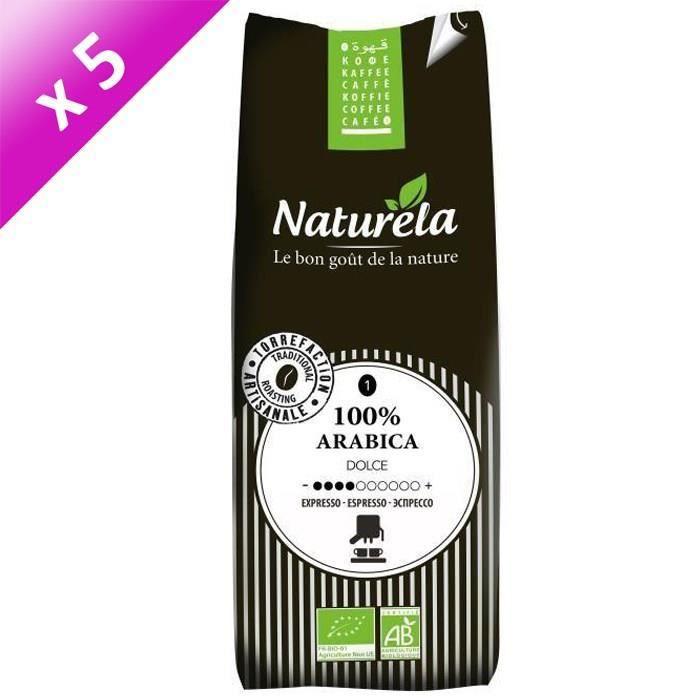 [LOT DE 5] Naturela -250g- Café 100% Arabica Expresso n° 1 Bio