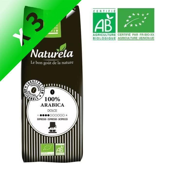 [LOT DE 3] Naturela -250g- Café 100% Arabica Expresso n° 1 Bio