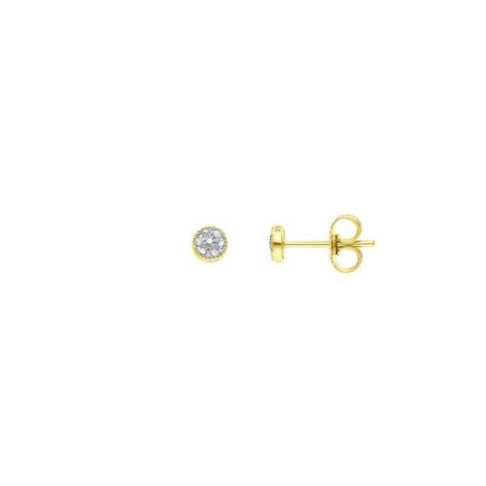 DIAMOND LANE Boucles d'Oreilles Or Jaune 375° et Diamants Femme