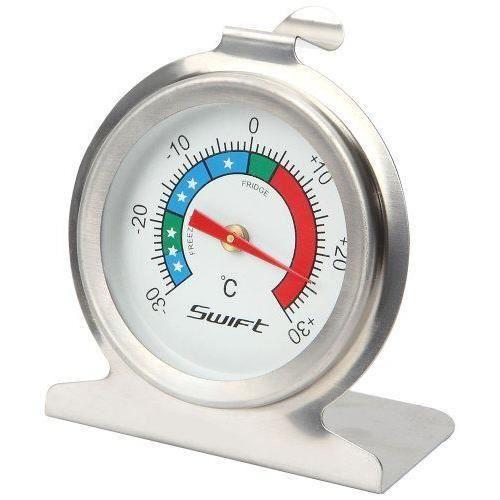 Dexam  Thermomètre pour réfrigérateur et congélateur en acier inoxydable Argenté - 17840317