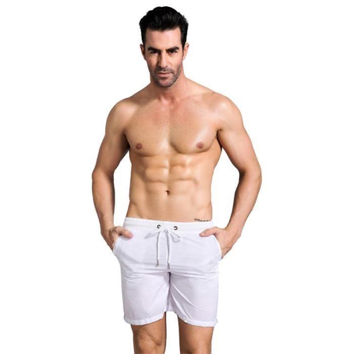 Shorts Homme sport mince Short Hommes uni basique - Orange