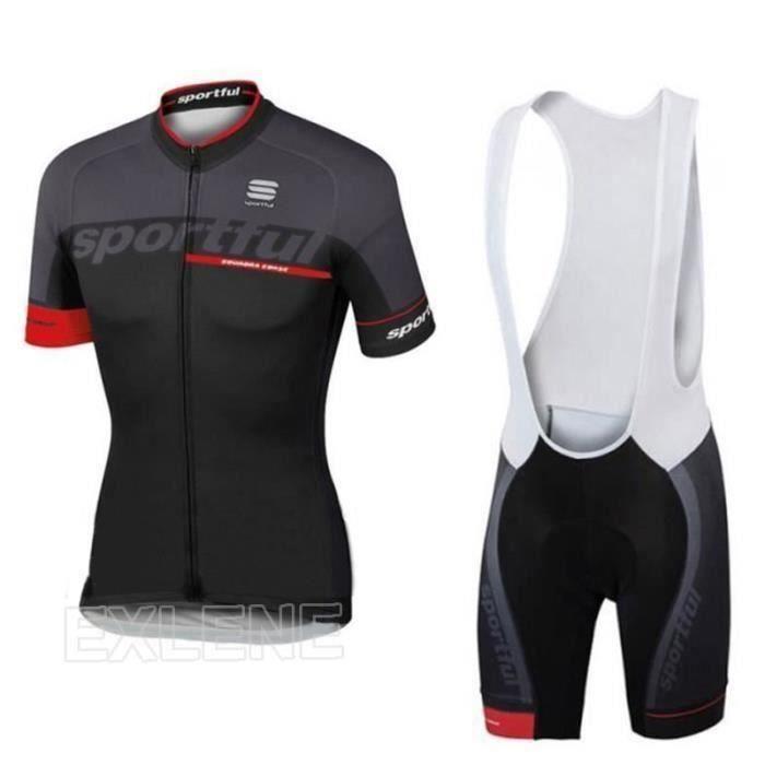 Sportful Maillot cycliste manches courtes et pantalon à bavette pour homme