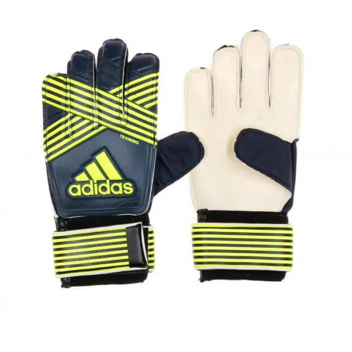 Gants de foot bleu/jaune enfant Adidas Ace Training
