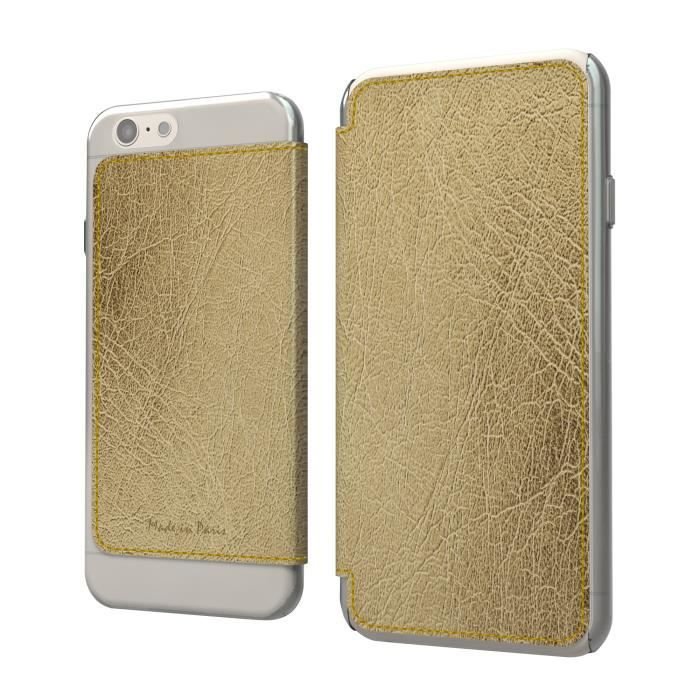 Muvit etui crystal folio iphone 6 6s lucca metal champagne