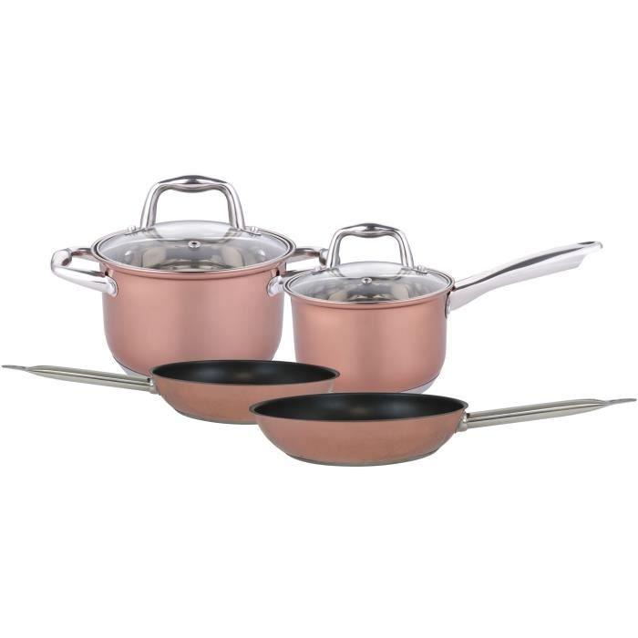 NAPOLEON NAP00074 - Set de 5 pièces : 2 poêles, 1 casserole+couvercle, 1 Faitout + couvercle