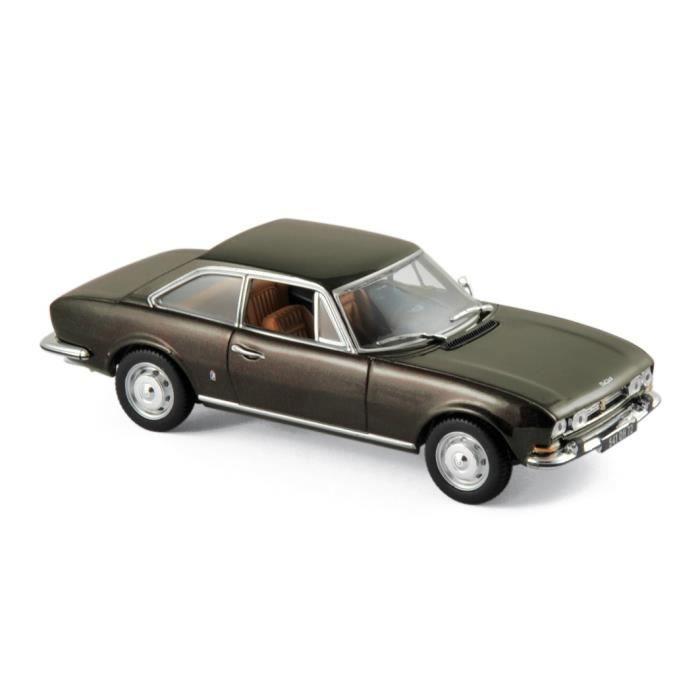 Miniatures montées - Peugeot 504 marron métallisé 1969 1/43 Norev