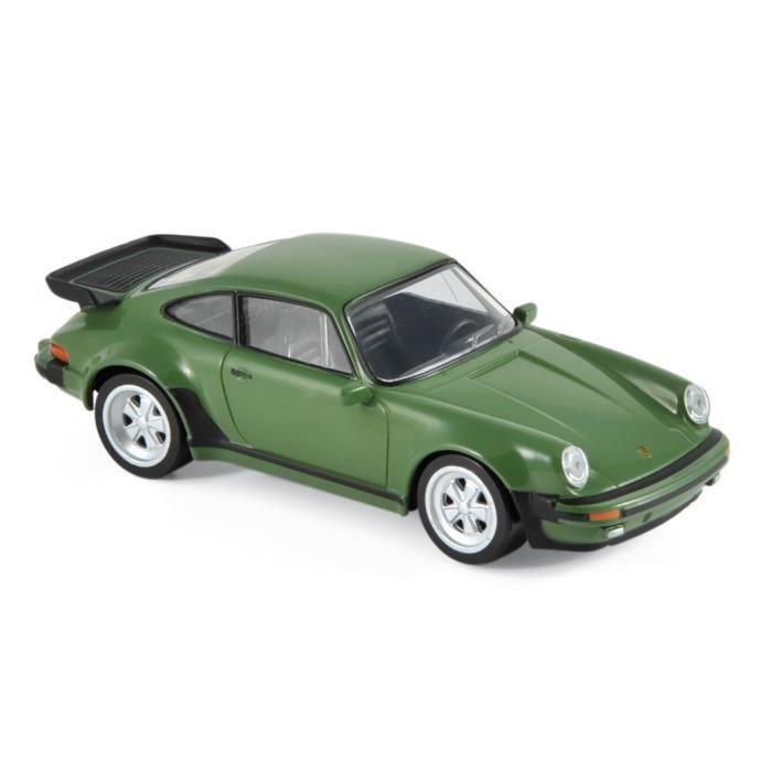 Miniatures montées - Porsche 911 turbo 3.3L vert - jet car 1978 1/43 Norev