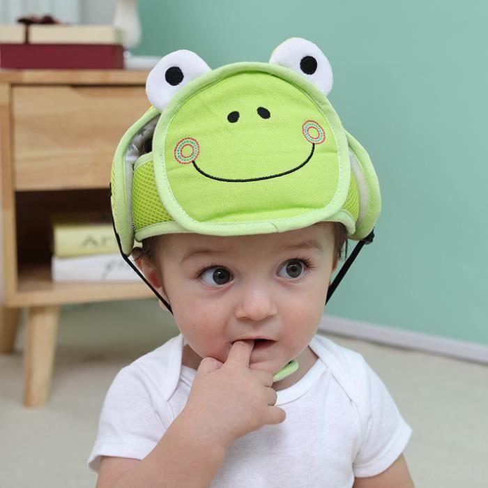 Casque Antichoc de Sécurité 42-62cm Réglable Bébé Infantile Chapeau de Protection pour Marche Rampants Domestique en Coton Douce