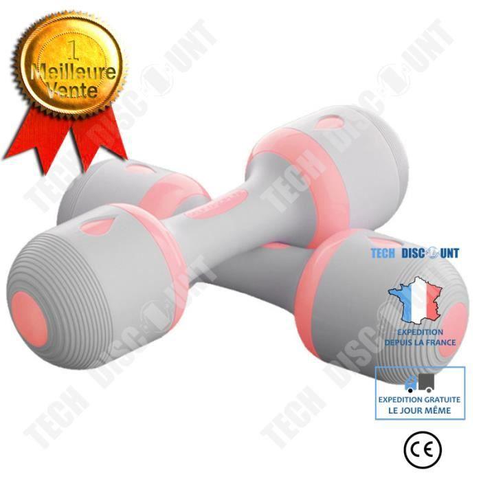 TD® 10 kg réglable ménage mâle haltères de fitness entraînement sportif intérieur aérobic dames tenant haltères -pink