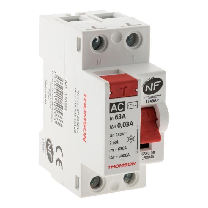 THOMSON Interrupteur différentiel à vis - 63A type AC NF