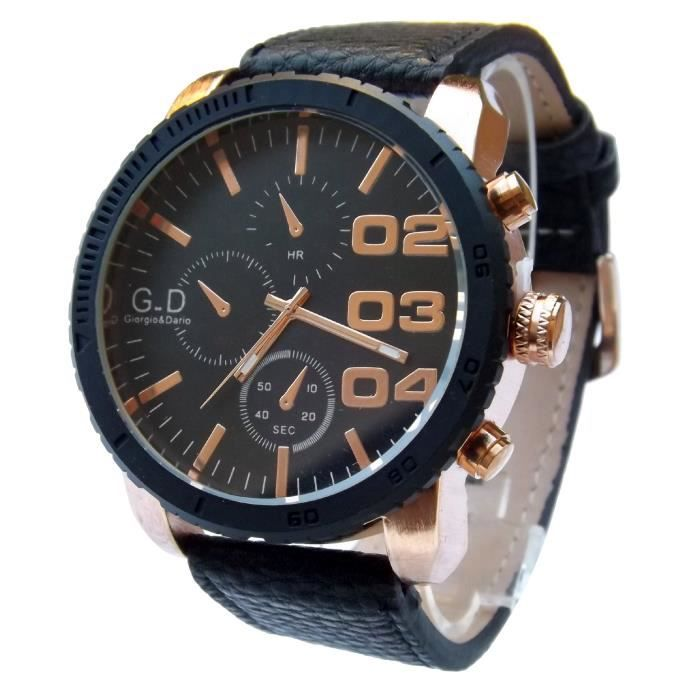 Fabuleux MONTRE HOMME GROS CADRAN DESIGN GD ONLY THE BRAVE - Achat / Vente &CB_95