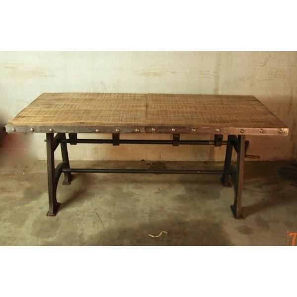 Table industrielle extensible achat vente table a for Table avec rallonge pas cher
