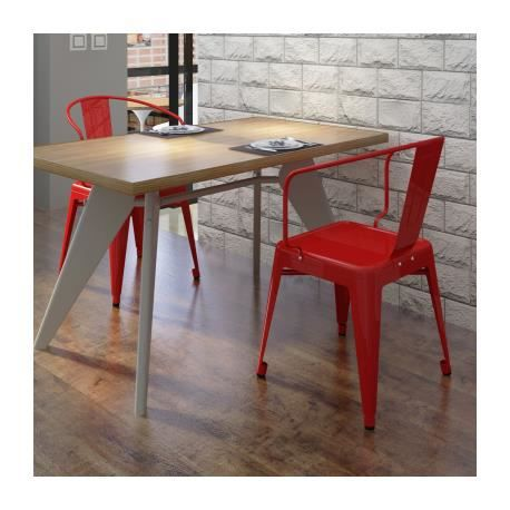 Chaise de salle manger 2 pi ces rouge stylashop achat - Chaise salle a manger rouge ...