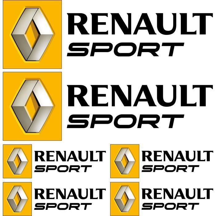autocollant renault sport achat vente autocollant renault sport pas cher cdiscount. Black Bedroom Furniture Sets. Home Design Ideas