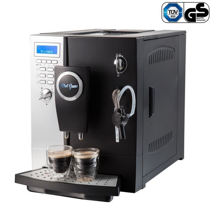 del gusto km20 machine caf enti rement automatique cafeti re percolateur expresso latte. Black Bedroom Furniture Sets. Home Design Ideas