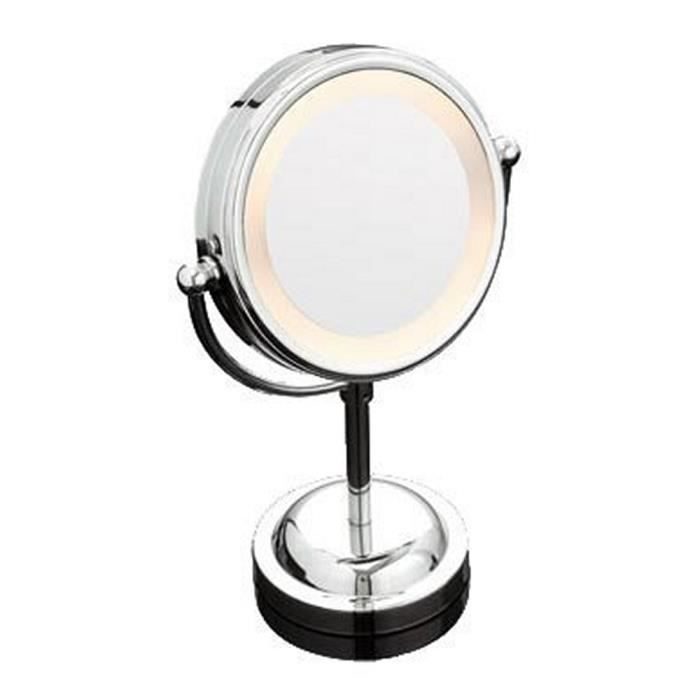 Bad miroir grossissant 3x rond chrom 15 cm achat for Miroir rond grossissant