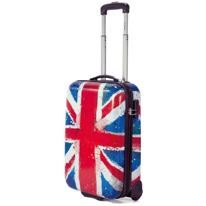 valise cabine 2 roulettes drapeau anglais 50 cm rouge multicolore achat vente valise. Black Bedroom Furniture Sets. Home Design Ideas