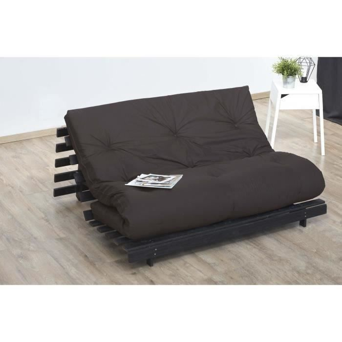 futon 140x190cm 100 coton shiva de dreamea achat vente futon cdiscount. Black Bedroom Furniture Sets. Home Design Ideas