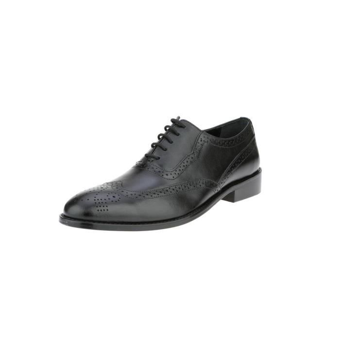 Liberty Handmade Leather Classic Brogue Wing-tip Lace Up Perforated Toe Dress Oxford Shoes D43WL Taille-44 1-2