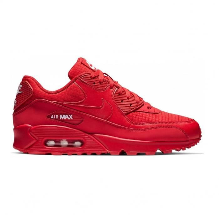 Basket mode Nike Air Max 90 Essential Rouge Rouge - Cdiscount ...