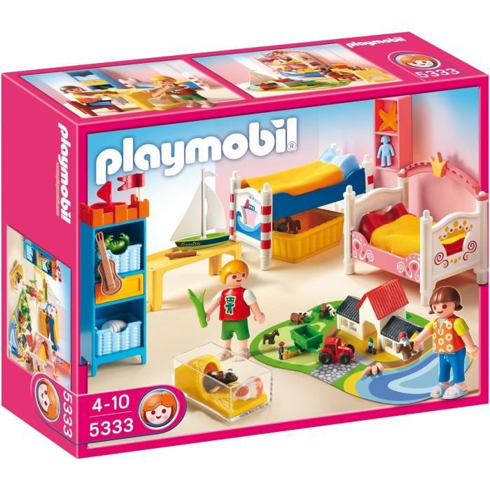 playmobil 5333 chambre des enfants avec lits achat vente univers miniature cdiscount. Black Bedroom Furniture Sets. Home Design Ideas