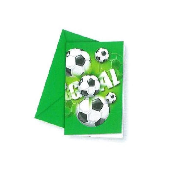 FAIRE-PART - INVITATION FOOTBALL - 6 Cartons d'Invitation avec Enveloppes