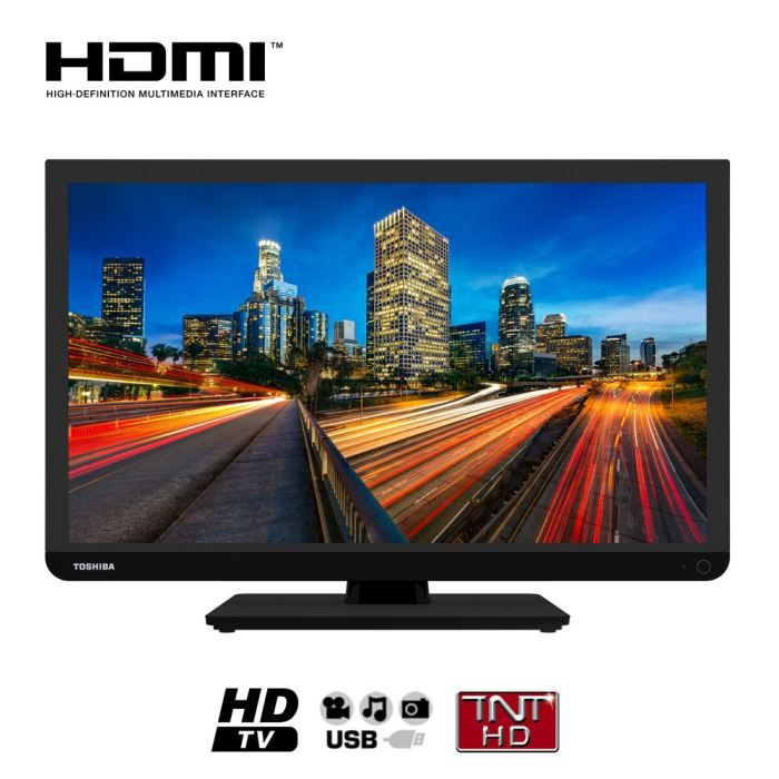 toshiba 24w1333 tv led 24 39 39 t l viseur led avis et prix pas cher cdiscount. Black Bedroom Furniture Sets. Home Design Ideas